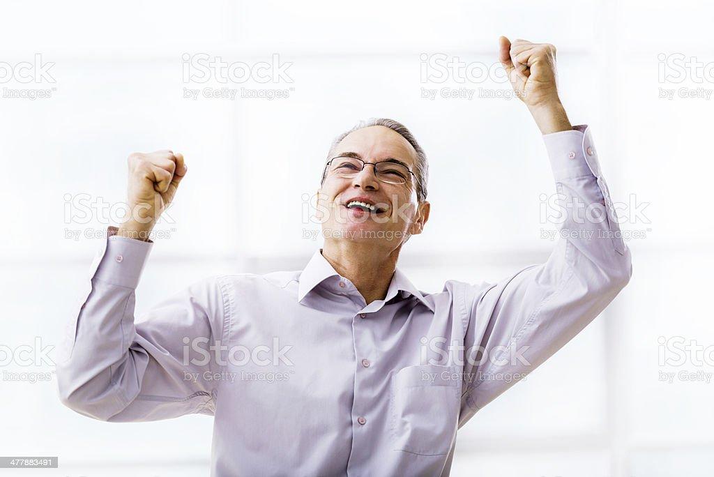 Ecstatic businessman. royalty-free stock photo