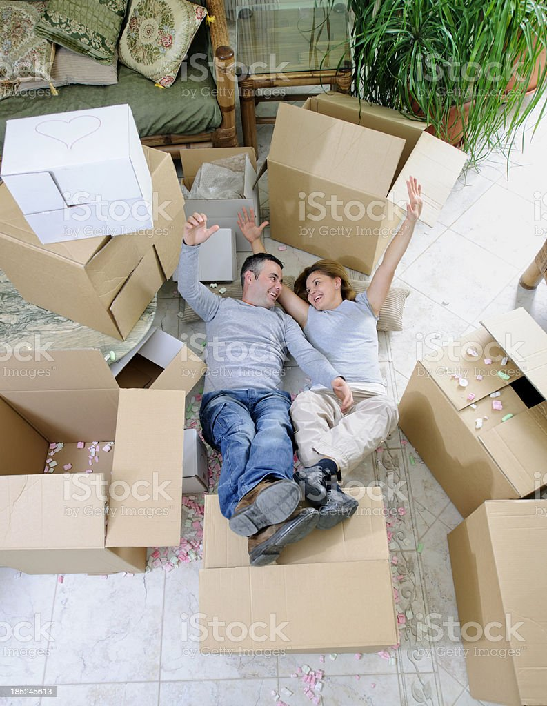 ecstatic couple royalty-free stock photo