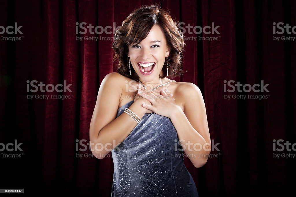 Ecstatic Glamorous Woman royalty-free stock photo