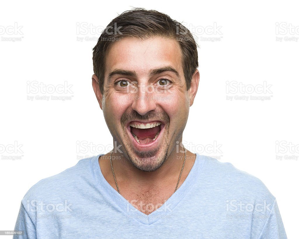 Ecstatic Man stock photo