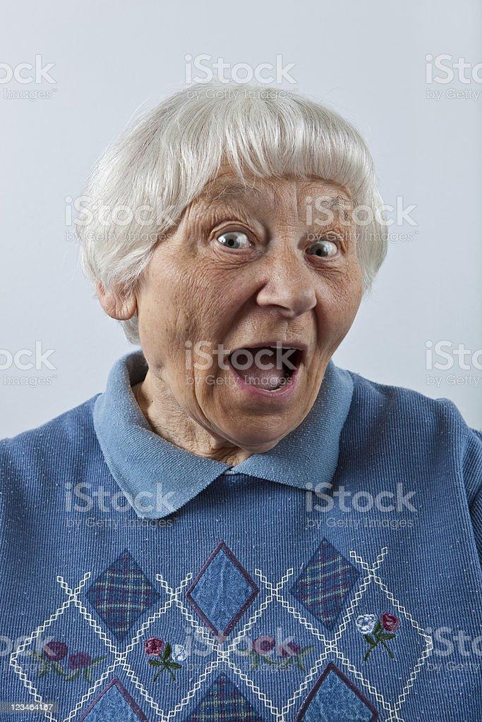 Ecstatic Senior Woman royalty-free stock photo