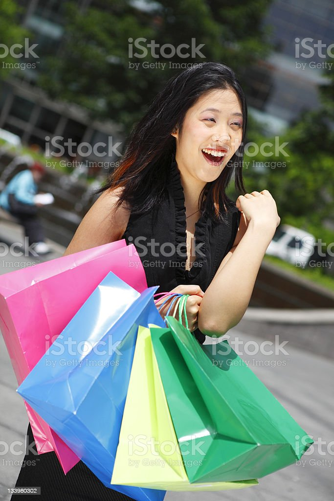 Ecstatic Shopper stock photo