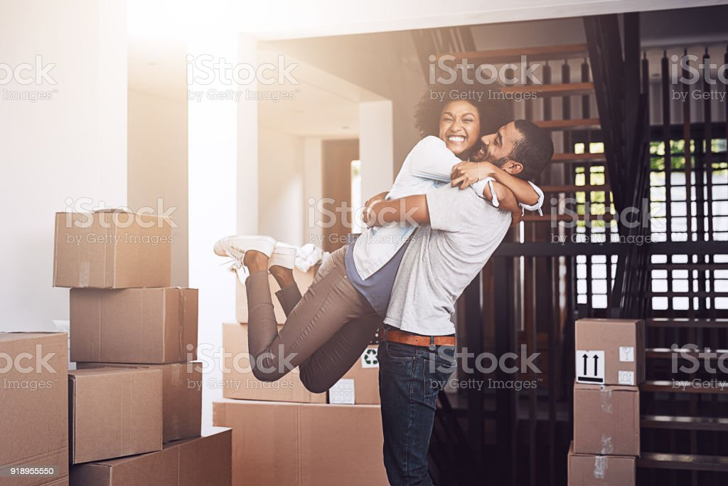 Ecstatic that this is all theirs stock photo
