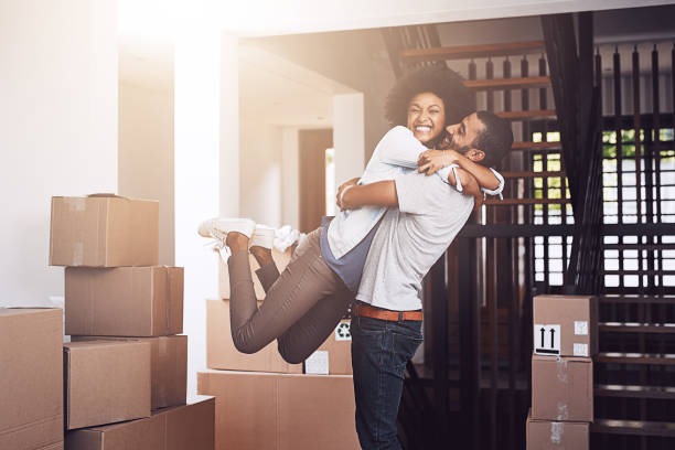 ecstatic that this is all theirs - house hunting stock photos and pictures