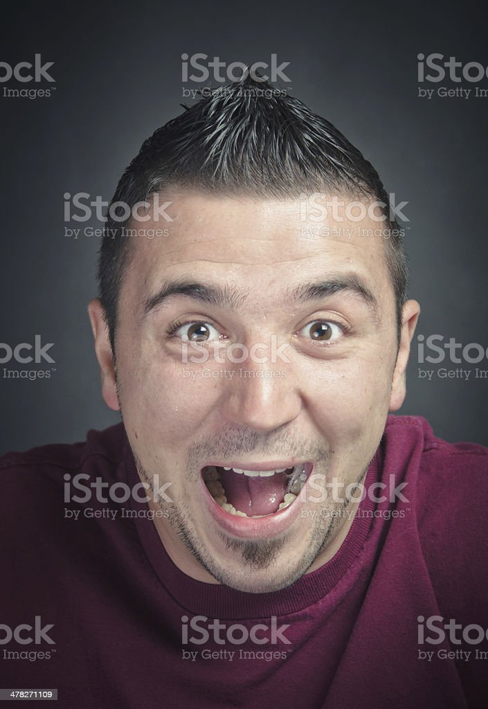 Ecstatic Young Man royalty-free stock photo