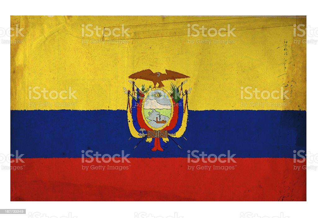 Bandera ecuatoriana - foto de stock