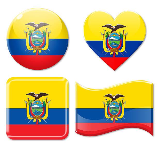 Royalty Free Ecuadorian Flag Ball Flag Of Ecuador On Isolated - Ecuador flags