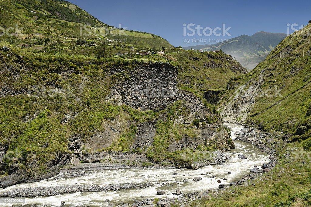 Ecuador landscape stock photo