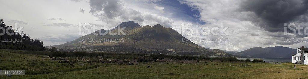 Ecuador: Mira Lago Panorama stock photo