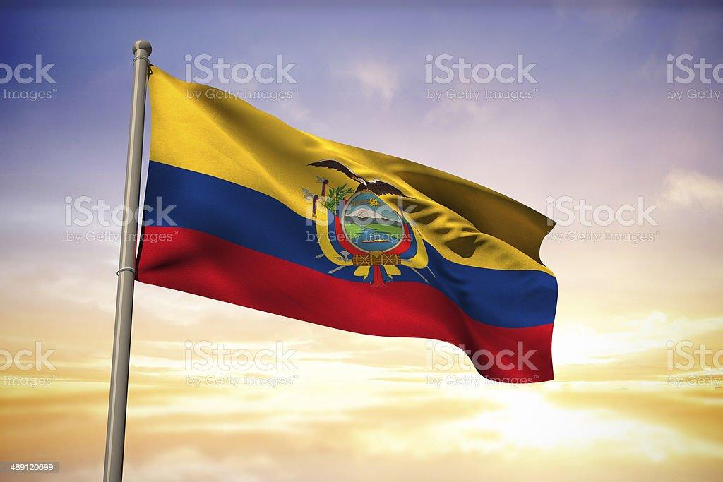 Ecuador bandera nacional - foto de stock