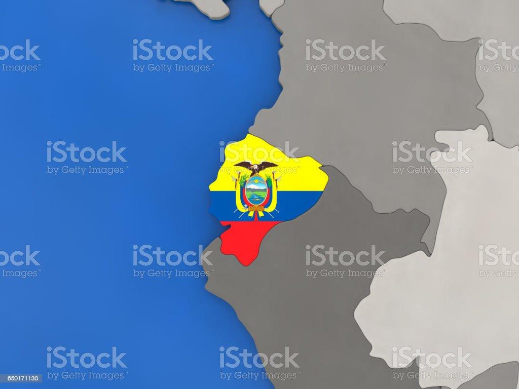 Ecuador en el mundo - foto de stock