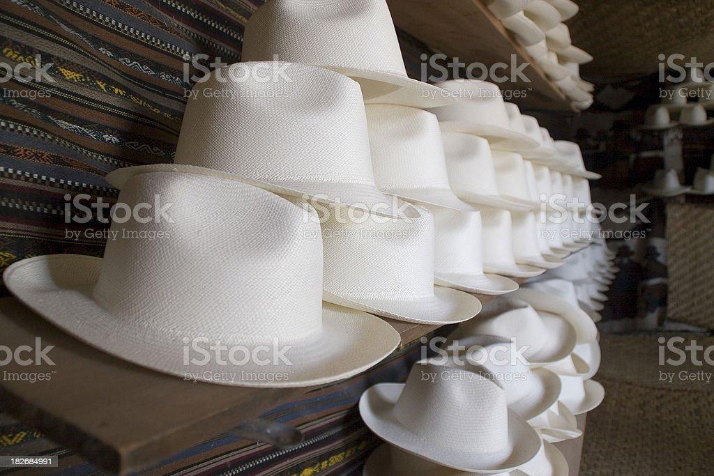 Ecuador: Panama Hats royalty-free stock photo