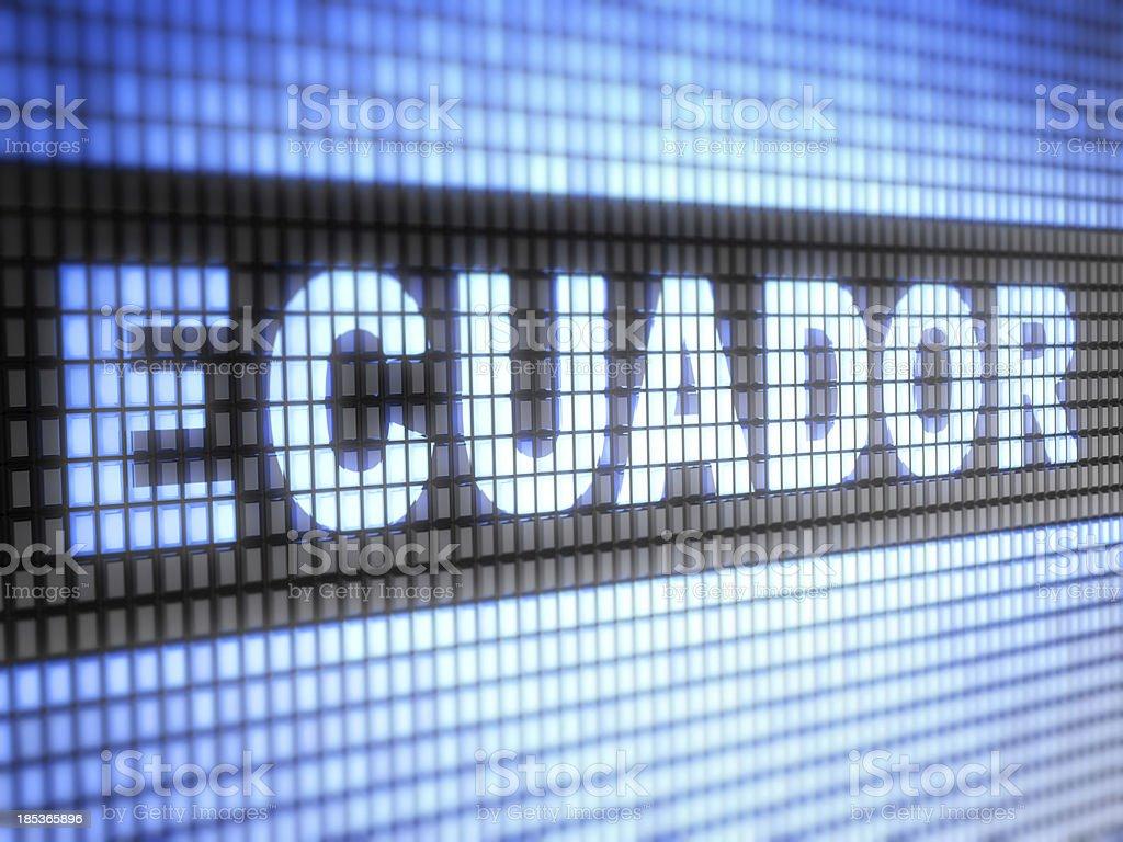 Ecuador royalty-free stock photo