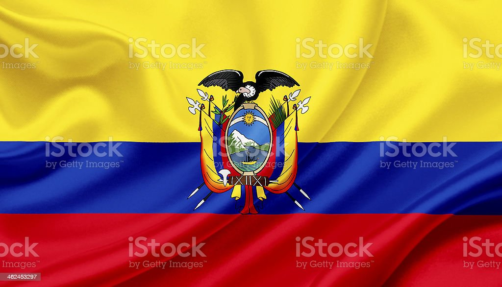 Agitando bandera ecuatoriana - foto de stock