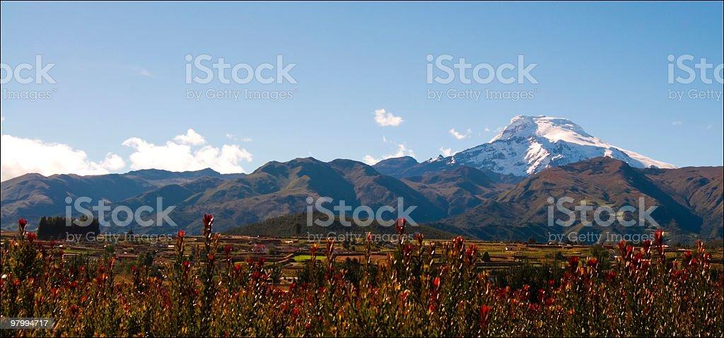 Ecuadoran Andes royalty free stockfoto