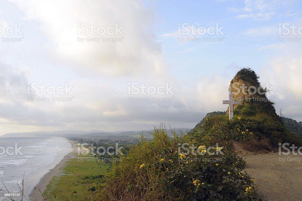 Ecuadorian Coastline seascape, Montanita, Ruta del Sol royalty-free stock photo