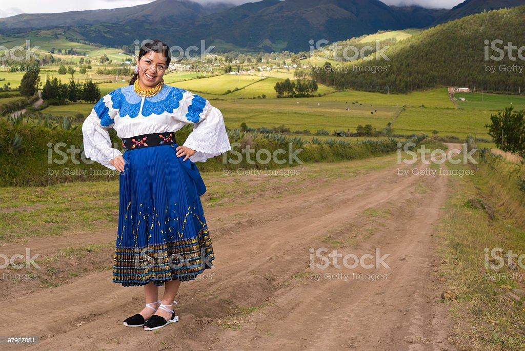ecuadorian woman royalty-free stock photo