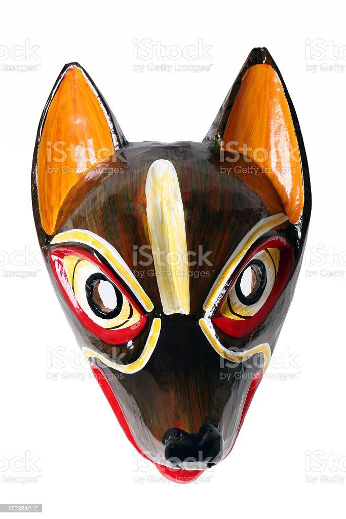Ecuadorian Wooden Mask Isolated on White royalty-free stock photo