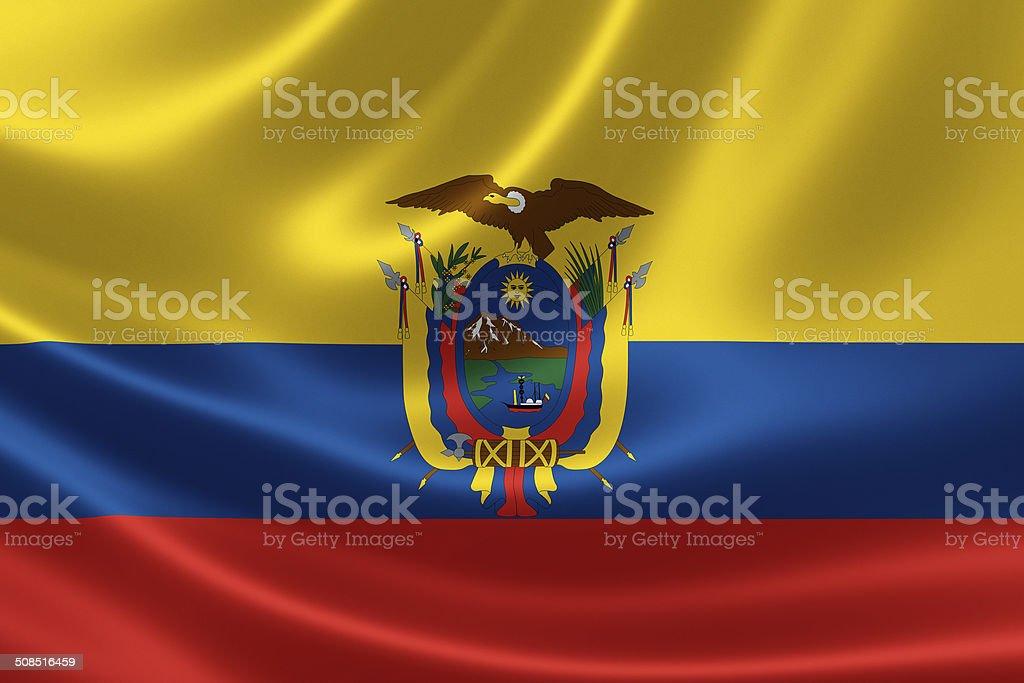 La bandera ecuatoriana - foto de stock
