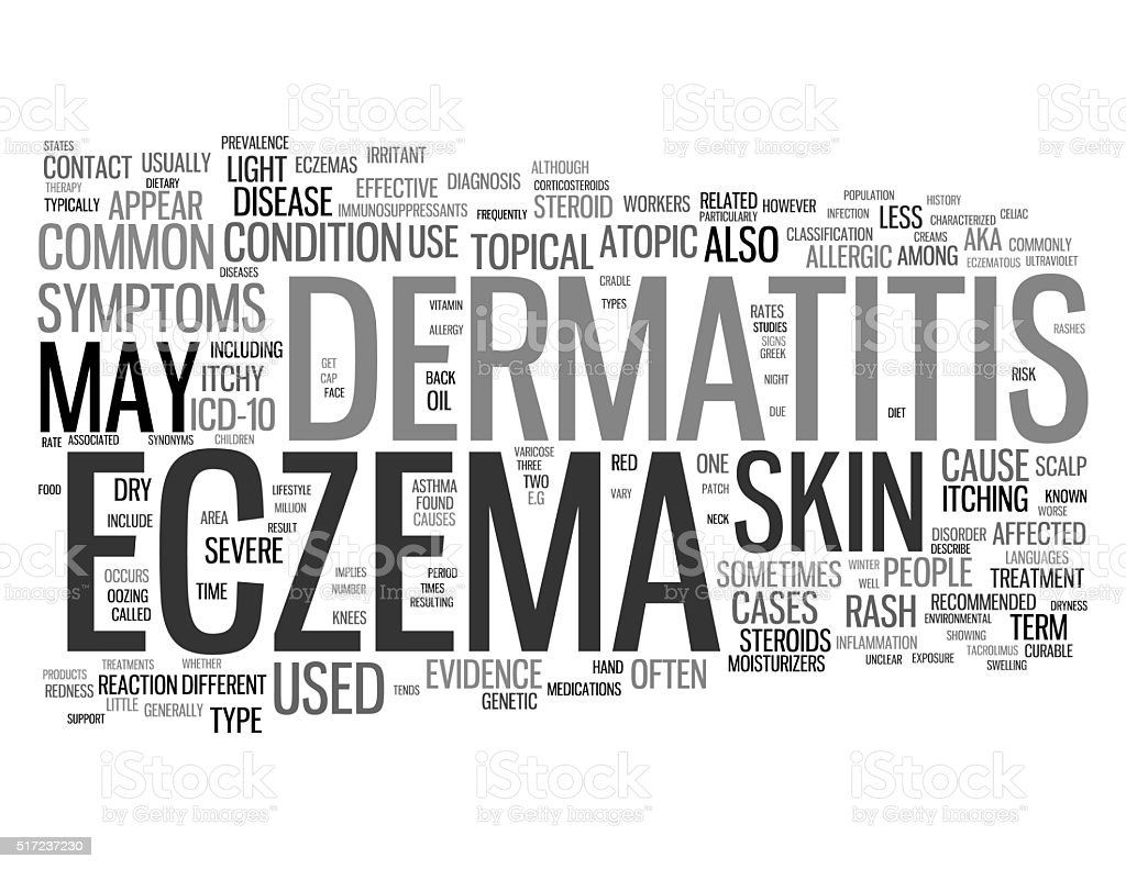 Eczema related concepts stock photo