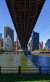 The images shows the Ed Koch Queensboro Bridge at a sunny day.