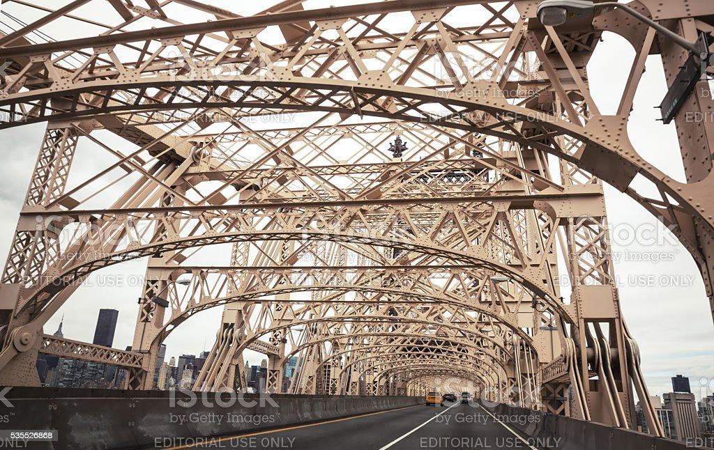 Ed Koch Queensboro Bridge stock photo