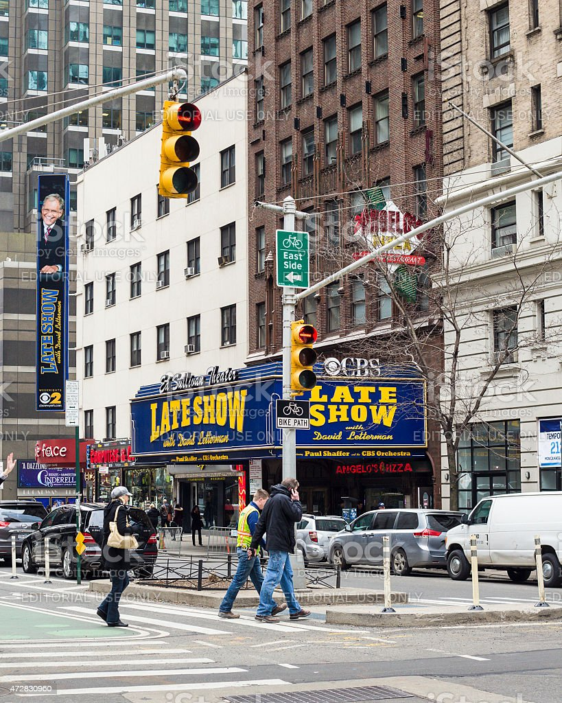 Ed Sullivan David Letterman Theater NYC stock photo