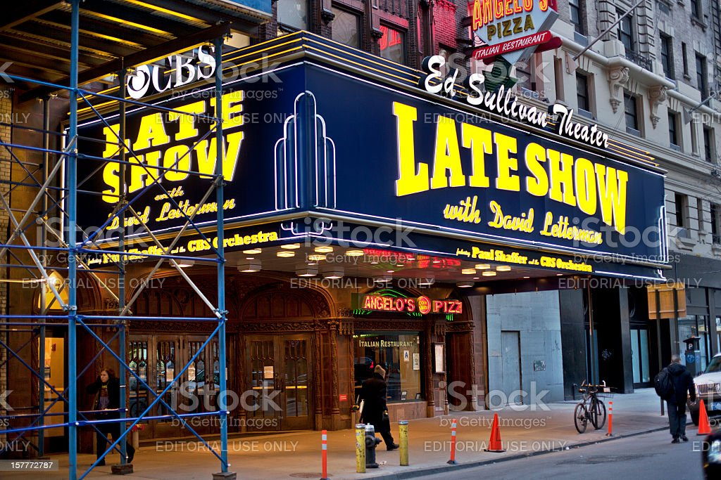 Ed Sullivan Theater Facade stock photo