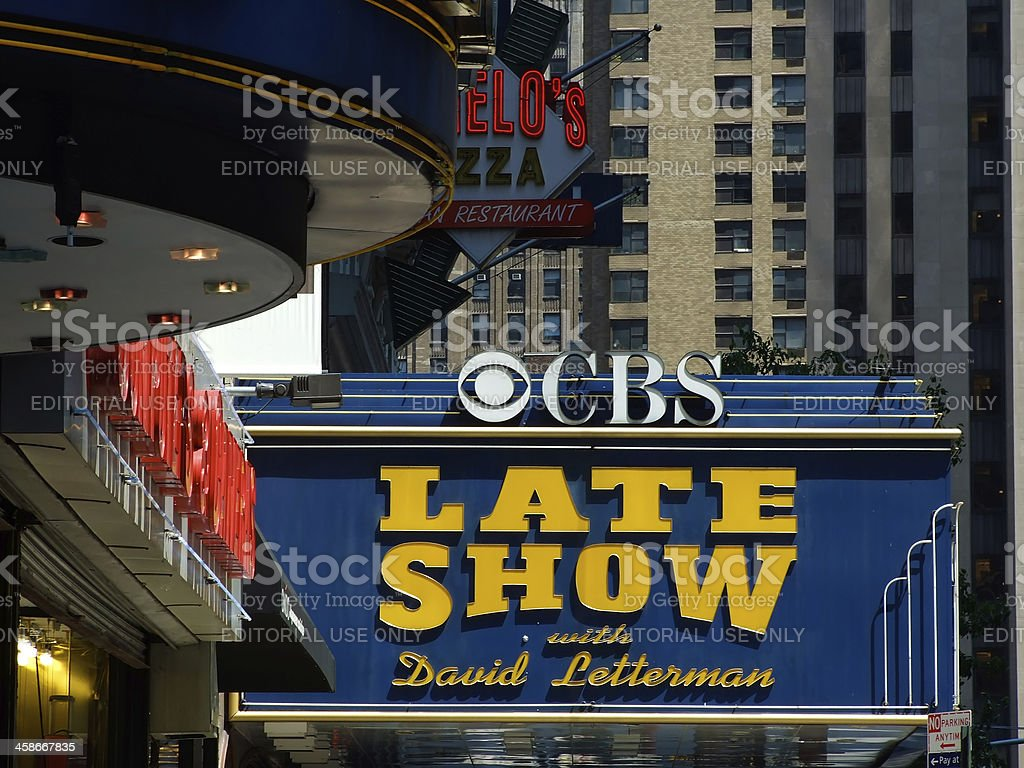 Ed Sullivan Theatre stock photo