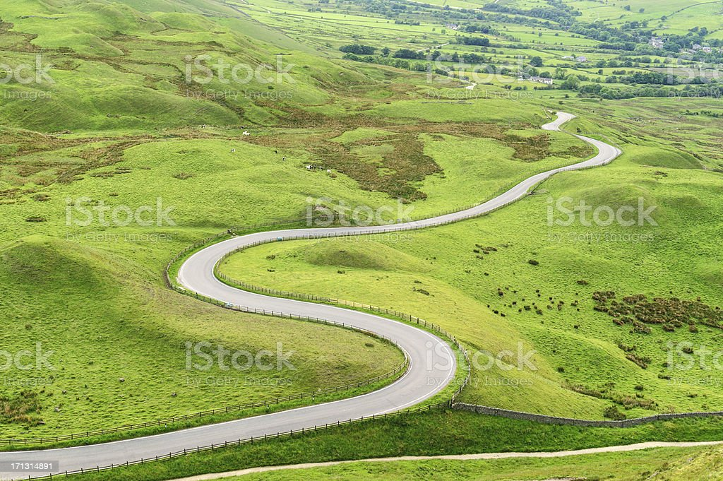 Edale Valley Road, Peak District National Park royalty-free stock photo