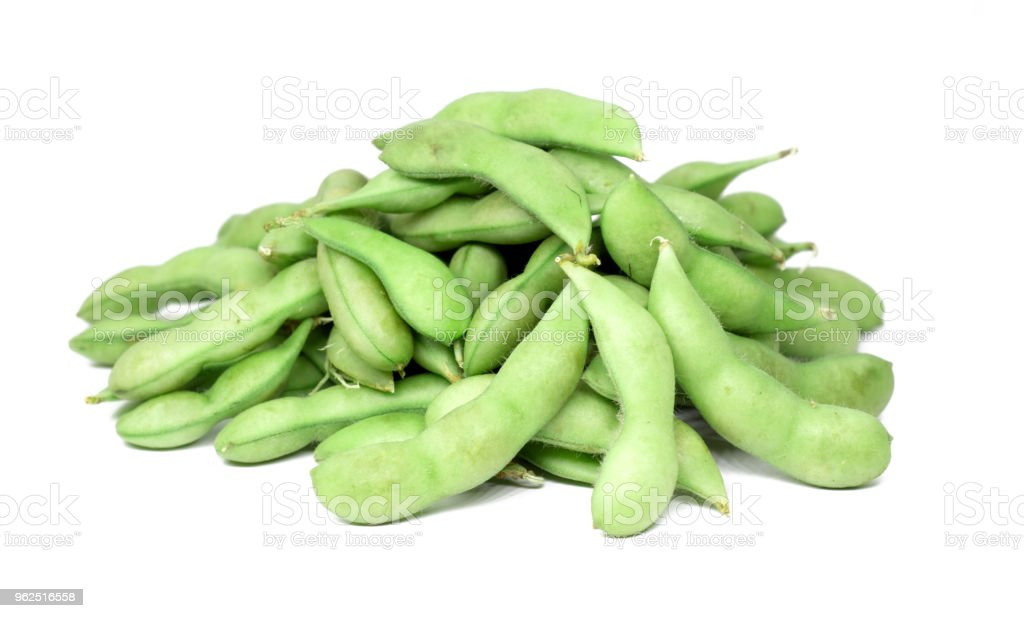 edamame beans isolated on white background - Royalty-free Appetizer Stock Photo
