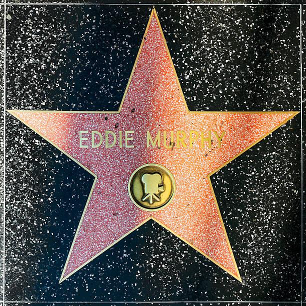 eddie murphy's stern auf hollywood walk of fame - eddie murphy filme stock-fotos und bilder