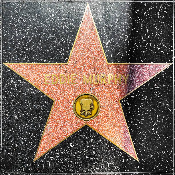 eddie murphys star on hollywood walk of fame - eddie murphy filme stock-fotos und bilder
