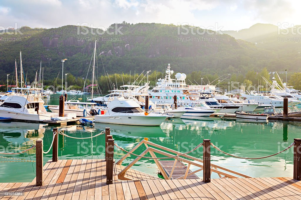 Eden island, Mahe, Seychelles stock photo