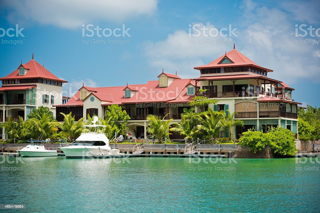 Eden Island, Seychelles stock photo