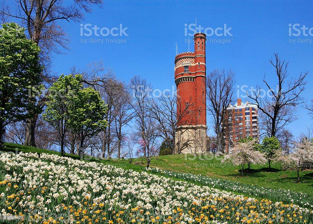 Eden Park Water Tower stock photo