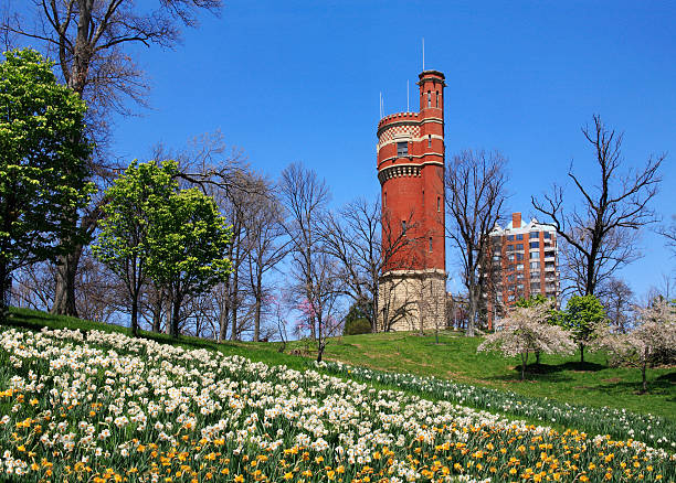 Eden Park Water Tower  cincinnati stock pictures, royalty-free photos & images