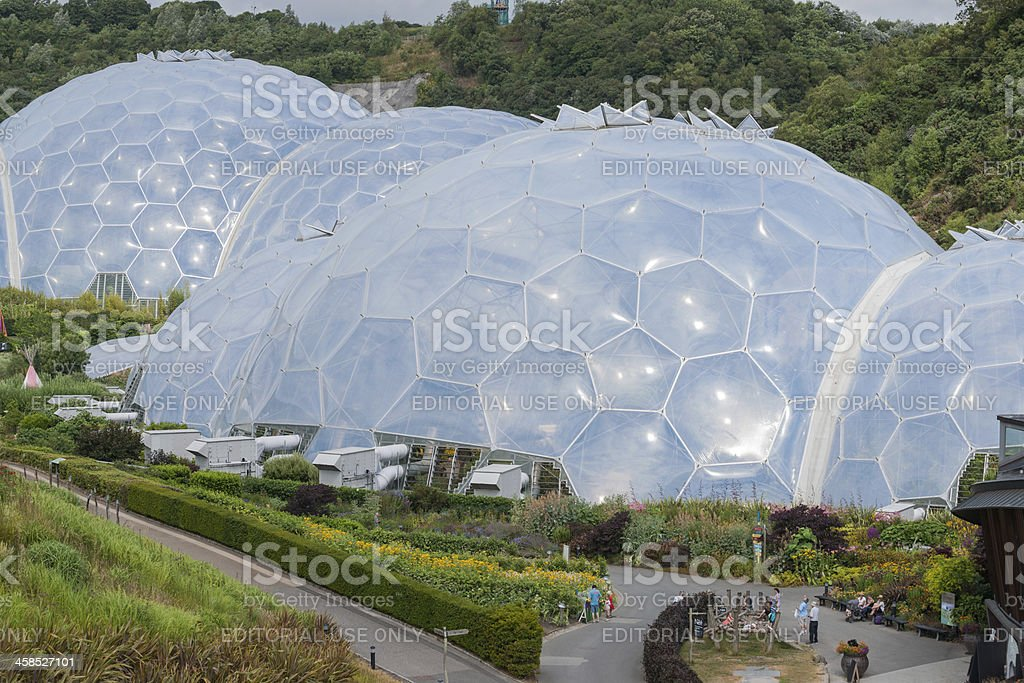 Eden Project geodesic domes. royalty-free stock photo