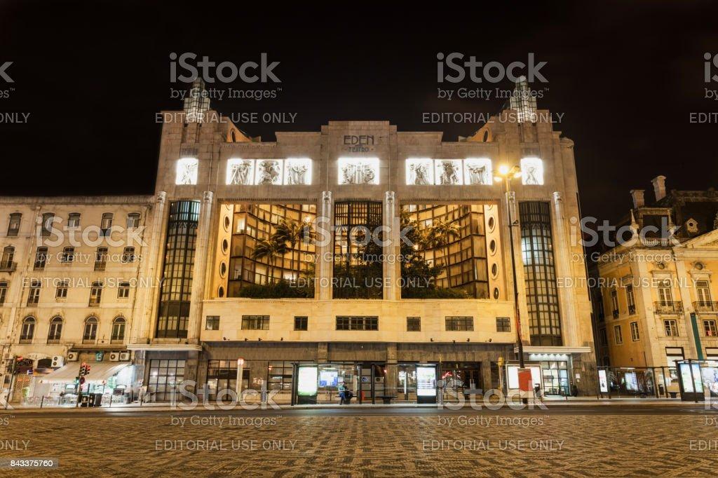 Eden Teatro and Monument stock photo
