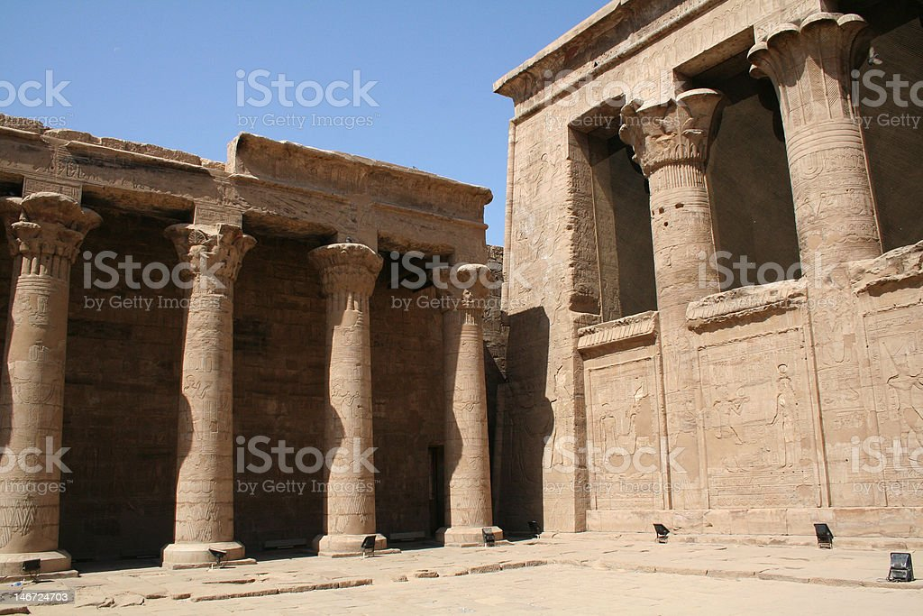 Edfu Temple of Horus stock photo