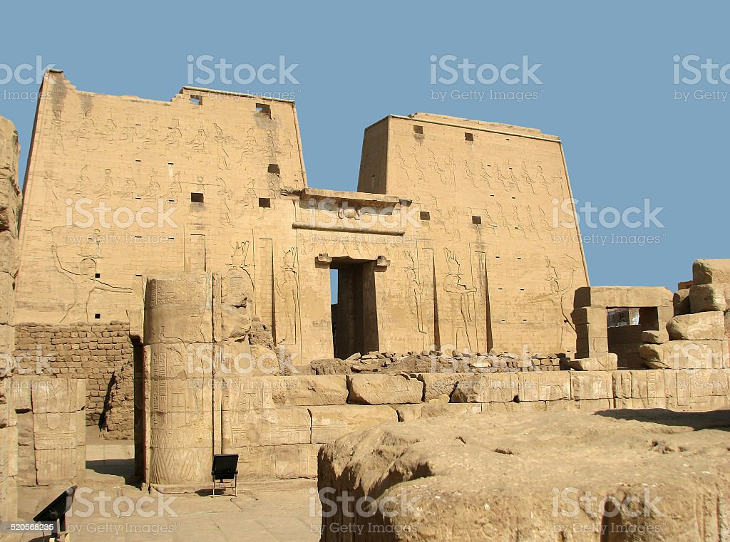 Edfu Temple stock photo