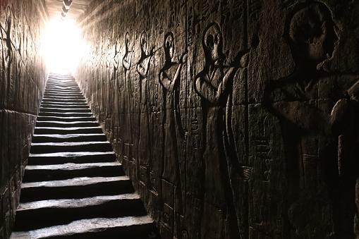 Edfu temple stairs