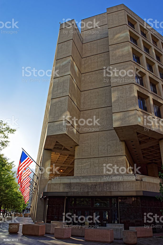 Edgar Hoover Building in Washington DC stock photo
