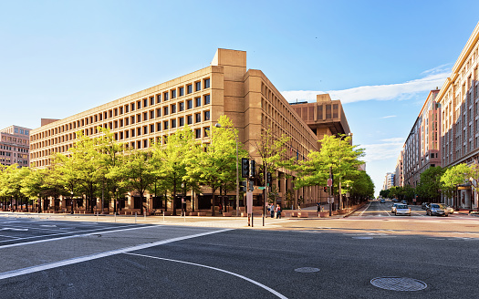J. Edgar Hoover Building located in Washington DC, USA. It is main building of Federal Bureau of Investigation or FB
