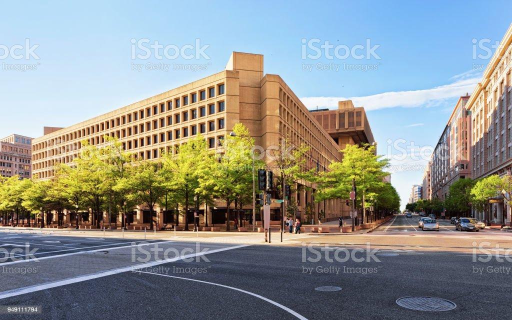 Edgar Hoover Building in Washington stock photo