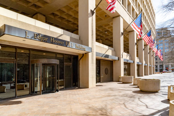 J. Edgar Hoover FBI Building in Washington DC, USA stock photo