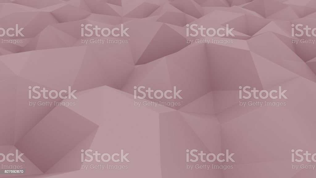 Edge and vertex pink polygonal background for reports and presentations. 3D rendering stock photo