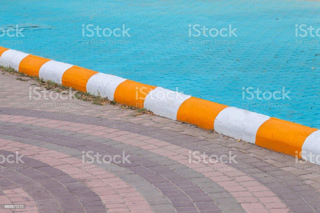 edge footpath White yellow stock photo