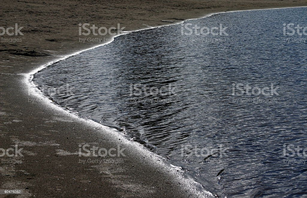 Rand einem Lake Lizenzfreies stock-foto