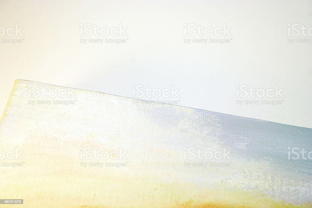Edge of an Abstract Canvas royalty-free stock photo